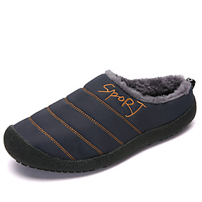 cheap Men's Clogs & Mules-Men's Comfort Shoes Canvas Winter Casual Clogs & Mules Warm Black / Camel / Army Green