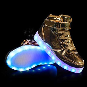 preiswerte Schuhe für Kinder-Jungen / Mädchen Leuchtende LED-Schuhe PU Sneakers Kleine Kinder (4-7 Jahre) / Große Kinder (ab 7 Jahren) Gold / Silber / Rosa Herbst / Winter / Gummi