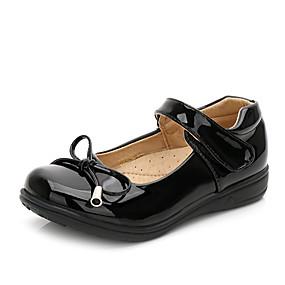 preiswerte Schuhe für das Blumenmädchen-Mädchen Schuhe für das Blumenmädchen Lackleder Flache Schuhe Kleine Kinder (4-7 Jahre) / Große Kinder (ab 7 Jahren) Schleife Weiß / Schwarz Frühling / Herbst / Party & Festivität / Gummi