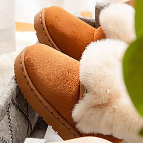 preiswerte Schuhe für Kinder-Mädchen Komfort / Schuhe für das Blumenmädchen Wildleder Stiefel Kleinkind (9m-4ys) / Kleine Kinder (4-7 Jahre) Walking Gelb / Kaffee / Rosa Winter / TPR (Thermoplastisches Gummi)