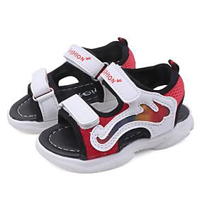 ราคาถูก พรีเซลล์-เด็กผู้ชาย / เด็กผู้หญิง ความสะดวกสบาย / Light Up รองเท้า PU รองเท้าแตะ เด็กวัยหัดเดิน (9m-4ys) / เด็กน้อย (4-7ys) LED สีดำ / แดง / ฟ้า ฤดูใบไม้ผลิ / ตก / ยาง