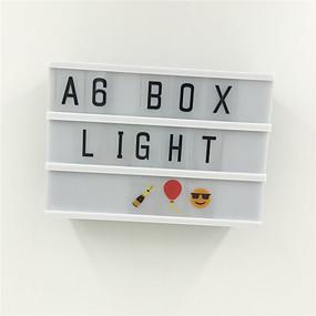 preiswerte LED-Smart Licht-1 stück a6 schwarz körper leuchtkasten led nacht lampe diy message board mit schwarzen buchstaben / zahlen aaa batteriebetriebene tragbare kino box wohnkultur beleuchtung (kommen ohne batterie)