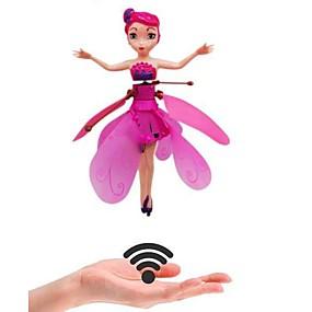 povoljno Nova svjetla-indukcijske čarobne lutke za princezu infracrveno svjetlo ovjes leteće igračke za lutke mini rc drone djevojka dječji poklon figura igračke