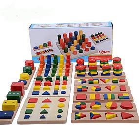 preiswerte Pädagogisches Spielzeug-Montessori Lernspielzeug Steckpuzzles Mathe-Spielzeug Bildung Cool Mädchen Jungen Geschenk