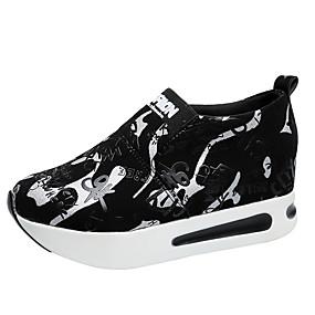 voordelige Damessneakers-Dames Sneakers Creepers Ronde Teen PU Informeel Herfst Groen / Rood / Zilver
