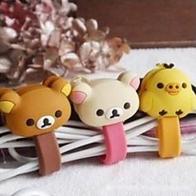 preiswerte 3save10% 5save20%-kleiner weißer Bär / reizender Spielzeugformkabel-Schnurhalter