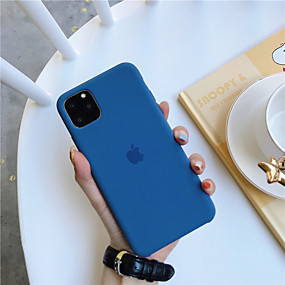 cheap Phones & Accessories-Case For Apple iPhone 11 / iPhone 11 Pro / iPhone 11 Pro Max Shockproof / Ultra-thin Back Cover Solid Colored TPU
