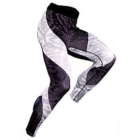 cheap Running & Jogging-JACK CORDEE Men's Running Tights Leggings Tights Leggings Elastane Winter Fitness Gym Workout Running Quick Dry Moisture Absorbent Sport Stripes Fuchsia Grey Green / High Elasticity
