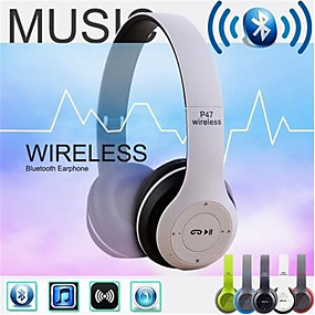 cheap Gaming Headsets-Wireless Bluetooth Headphones Noise Cancelling Headset Foldable Stereo Bass Sound Adjustable Earphones With Mic For PC Phone