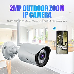 economico Telecamere di sorveglianza-wanscam k22 wireless 1080p 2mp ip camera 3.6mm lens 6pcs leds support 3x zoom digitale (zoom in zoom out on app) visione notturna ip66 impermeabile audio visione notturna accesso remoto rilevazione mo