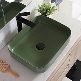 povoljno Samostojeći umivaonici-Kupaonica Sudoper Suvremena - Staklo Pravokutno Vessel Sink