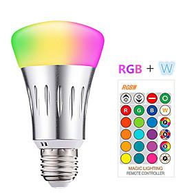 preiswerte Haus & Garten-1pc 10 W Smart LED Glühlampen 200-800 lm E26 / E27 9 LED-Perlen SMD 5050 Smart Abblendbar Ferngesteuert RGBW 85-265 V