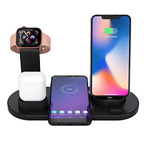 Cables & Chargers-3 In 1 Wireless Charger Apple Airpods Charger Apple Watch Stand Fast Multiple Device Wireless Charging Station Compatible With Iphone 11 Pro Max/X / Xr / Xs Max / 8/7/6 / Samsung /Huawei