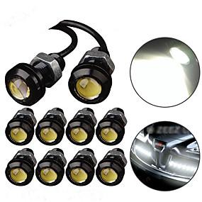 povoljno Svjetlo za registarske tablice-10pcs vodio orao svjetlo drl dnevnim stroboskopima svjetla za maglu 9w 12v 18mm unazad parkirno signalno svjetlo vodootporan