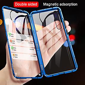 cheap Phones & Accessories-Case For Xiaomi Xiaomi Mi 9 / Xiaomi Mi 9 SE / Xiaomi Mi 9T Flip / Magnetic Full Body Cases Solid Colored Tempered Glass / Metal
