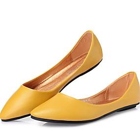 voordelige Damesinstappers & loafers-Dames Loafers & Slip-Ons Lage hak Gepuntte Teen Rubber / PU Zomer Zwart / Bruin / Kameel