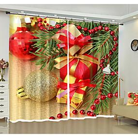 preiswerte 3D Vorhänge-3D-Druck 3D Vorhänge zwei Panele Vorhang