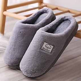 preiswerte Herren Hausschuhe und Flip-Flops10210516-Herrn Komfort Schuhe Kunstpelz Winter Freizeit Slippers & Flip-Flops Walking warm halten Braun / Grau