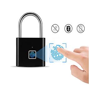 preiswerte Türbeschläge & Schlösser-wiederaufladbare USB-Sicherheitstür Tastatur Fingerabdruck intelligente schlüssellose Sicherheit Vorhängeschloss schnell entsperren