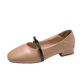 voordelige Damesschoenen met platte hak-Dames Platte schoenen Platte hak Ronde Teen PU Herfst Wit / Beige