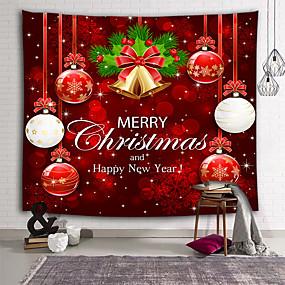 cheap Christmas Wall Decor-Chriatmas Holiday Wall Decor 100% Polyester Wall Art, Wall Tapestries Decoration