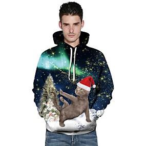 preiswerte Sweatshirts-Herrn Weihnachten Kapuzenshirt Cartoon Design