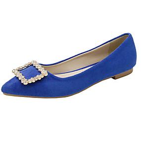 voordelige Damesschoenen met platte hak-Dames Platte schoenen Platte hak Gepuntte Teen PU Herfst Zwart / Wijn / Marine Blauw