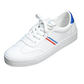 voordelige Damessneakers-Dames Sneakers Platte hak Ronde Teen Netstof / Tissage Volant Informeel / minimalisme Hardlopen / Wandelen Herfst winter Groen / Blauw / Kleurenblok