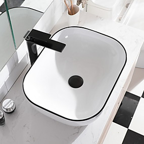 cheap Vessel Sinks-Bathroom Sink Contemporary - Glass Square Vessel Sink