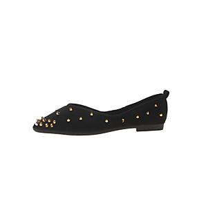 voordelige Damesschoenen met platte hak-Dames Platte schoenen Platte hak Gepuntte Teen Satijn Zoet / minimalisme Lente & Herfst Zwart / Roze