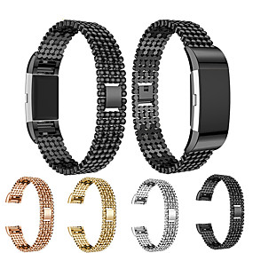 cheap Phones & Accessories-Watch Band Wrist Strap For Fitbit Charge 2 Metal Stainless Steel Quick Release Bracelet Wristband