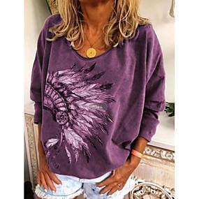 preiswerte Damenbekleidung-Damen Grafik T-shirt Schwarz