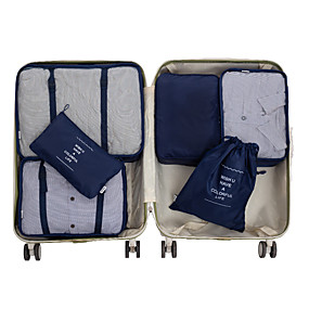 cheap Travel Bags-6 sets Travel Bag / Travel Organizer / Travel Luggage Organizer / Packing Organizer Large Capacity / Waterproof / Portable Clothes Net Fabric Travel / Durable / Double Sided Zipper / Accessories Bag