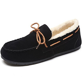 cheap Women's Slip-Ons & Loafers-Women's Loafers & Slip-Ons Flat Heel Round Toe Suede Fall & Winter Black / Camel / Army Green