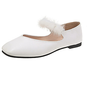 voordelige Damesschoenen met platte hak-Dames Platte schoenen Platte hak Vierkante Teen PU Herfst Zwart / Wit / Groen