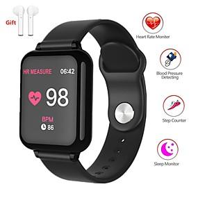 olcso Újdonságok-Indear QW-B57 Férfi nő Intelligens karkötő Android iOS Bluetooth Vízálló Érintőképernyő Szívritmus monitorizálás Vérnyomásmérés Sportok Stopper Dugók & Töltők Lépésszámláló Hívás emlékeztet