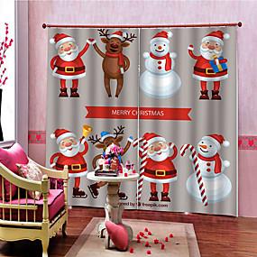 preiswerte Dekoration-Weihnachten Privatsphäre zwei Panele Vorhang