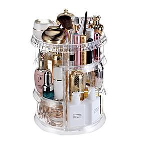 preiswerte Kosmetik-Boxen, Taschen & Töpfe-Hochwertige Qualität transparentem Acryl Sinn 360-Grad-Dreh Make-up-Box Aufbewahrungsbox Familie Schminktisch Veranstalter Fall