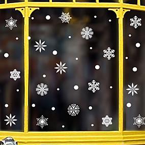 preiswerte Dekoration für Zuhause-Weihnachtsschneeflockefensterfilm& ampampamp aufkleber dekoration tier / gemusterte urlaub / charakter / geometrische fensteraufkleber aus pvc (polyvinylchlorid)
