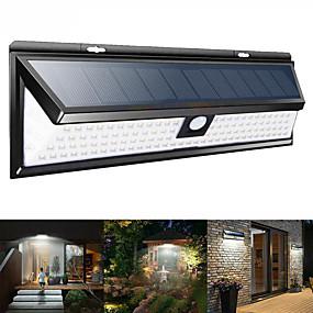 preiswerte Außenwandleuchten-1pc 9 W Solar-Wandleuchte Wasserfest / Solar / Neues Design Weiß 3.7 V Außenbeleuchtung / Schwimmbad / Hof 180 LED-Perlen