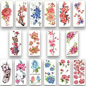 cheap Temporary Tattoos-16 sheets waterproof temporary tattoo water transfer flower stickers beauty health body arm art women girl female sexy makeup