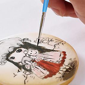 cheap Kitchen-10pcs Cake Brush Decorating Pen FDA Sugar Craft Tool Chocolate Drawing Painting Tools