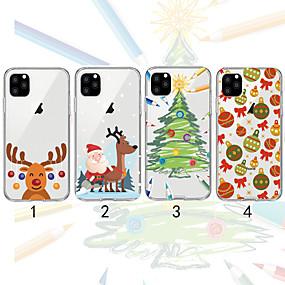 preiswerte Weihnachtsfälle-Hülle Für Apple iPhone 11 / iPhone 11 Pro / iPhone 11 Pro Max Transparent / Muster Rückseite Weihnachten TPU