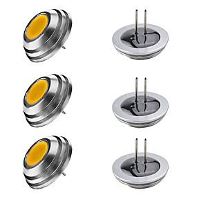 cheap LED Bi-pin Lights-6pcs 3 W LED Candle Lights LED Corn Lights LED Bi-pin Lights 300 lm G4 1 LED Beads High Power LED Warm White White 12 V