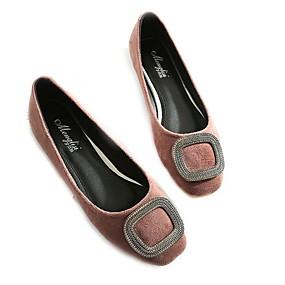 voordelige Damesinstappers & loafers-Dames Loafers & Slip-Ons Platte hak Ronde Teen PU Zomer Zwart / Bordeaux / Roze
