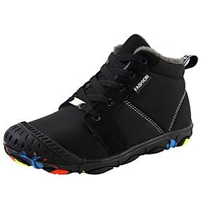 voordelige Damesschoenen met platte hak-Dames Platte schoenen Platte hak Ronde Teen Elastische stof / Synthetisch Winter Zwart / Leger Groen