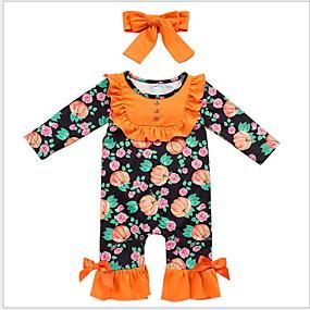 preiswerte Baby & Kinder-Baby Mädchen Grundlegend Blumen Langarm Einzelteil Schwarz
