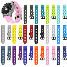 cheap Smartwatch Bands-For Garmin Fenix6/6pro Fenix5/5Plus Sports Replacement Quick Release Silicone Wristband Wrist Strap Accessories