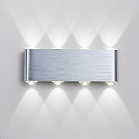 cheap Outdoor Wall Lights-Waterproof Simple Modern Contemporary Outdoor Wall Lights Outdoor Lights Study Room Office Indoor Aluminum Wall Light IP65 220-240V Generic