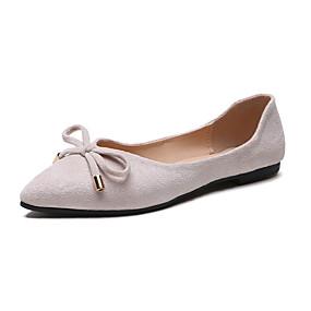 voordelige Damesschoenen met platte hak-Dames Platte schoenen Blokhak Gepuntte Teen PU Zomer Zwart / Beige